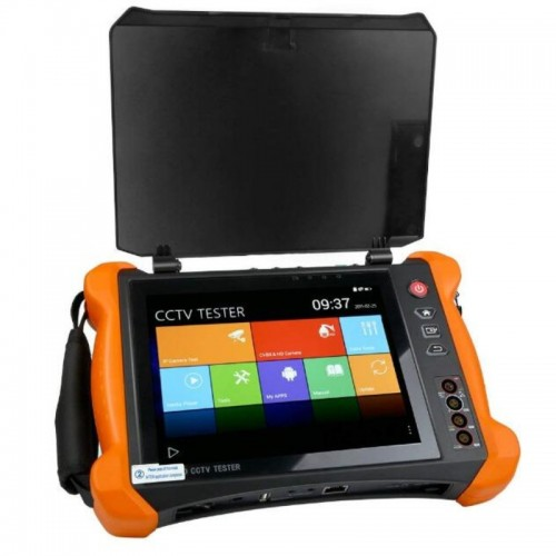 """X9-ADH New top-of-the-line """"All in one multi-function CCTV tester"""", with unique Retina 8 '' touchscreen and 2048x1536 resolution"""