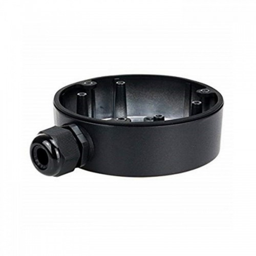 DS-1280ZJ-DM18 BLACK  Metallic base - connection box for Dome cameras, diameter approx. 110mm, (diameter x height) 116x44 mm.