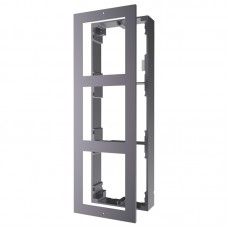 DS-KD-ACW3 Base for wall mounting of 3 modules of Intercom door panel, including aluminum airframe and cover