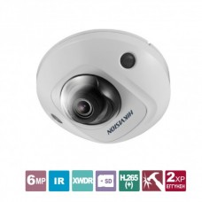 DS-2CD2563G0-I 2.8 Mini Dome 6MP indoor / outdoor wired webcam, H.265 + / H.265, 120dB WDR, 2.8mm fixed angle lens (97 ° viewing angle), infrared (IR) lighting with range up to 10m .
