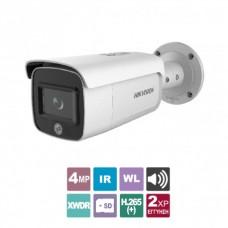 DS-2CD2T46G1-4I/SL2.8  4MP AcuSense Network Bullet Camera, DarkFighter Technology