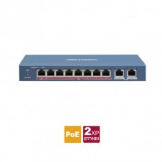 DS-3E0310HP-E Layer 2 unmanaged 10 port Switch, 1 x 100 HiPoE 60W + 7 x 100 PoE 30W